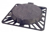 SQUARE FRAME ROUND COVER CLASS D 400